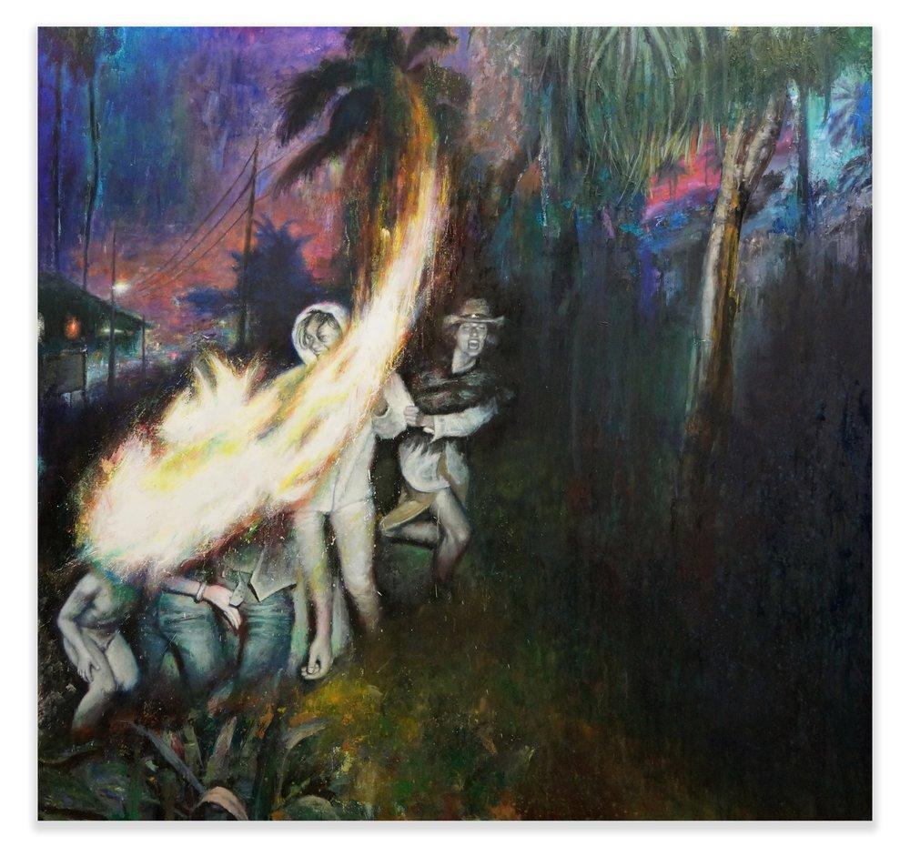 Cicada, 2018, oil on canvas, 180x190cm