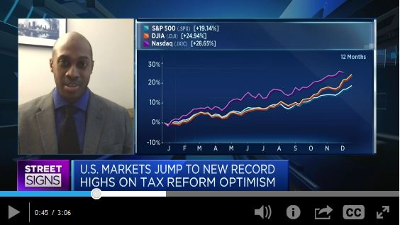 CNBC Interviewed by Jill Byers FOCUS: Stock Market Outlook for 2018