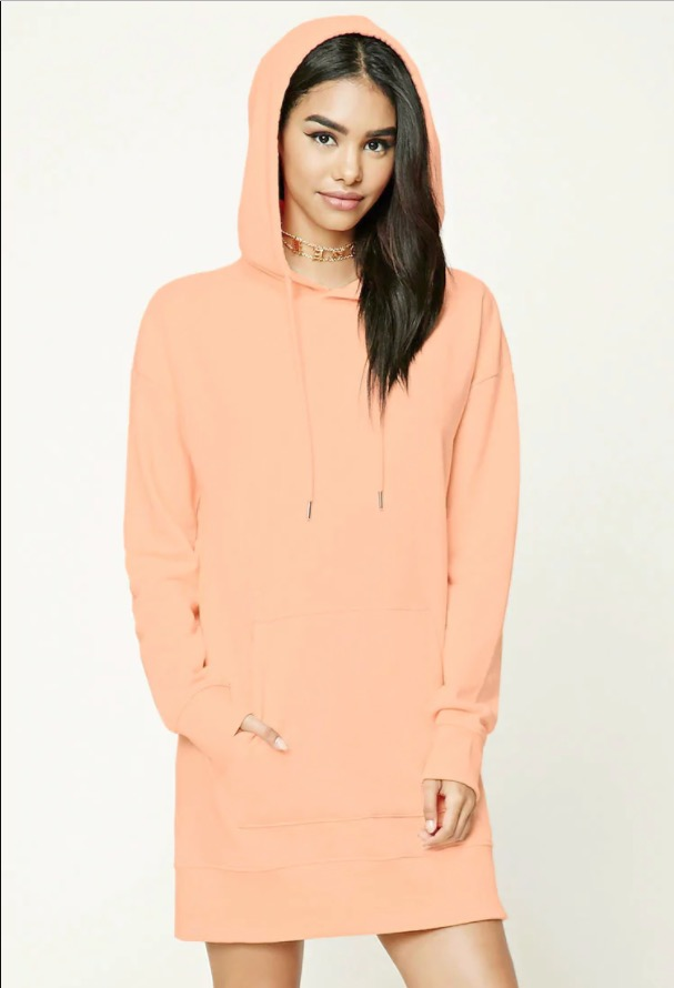 Forever 21 Hooded Sweatshirt Dress