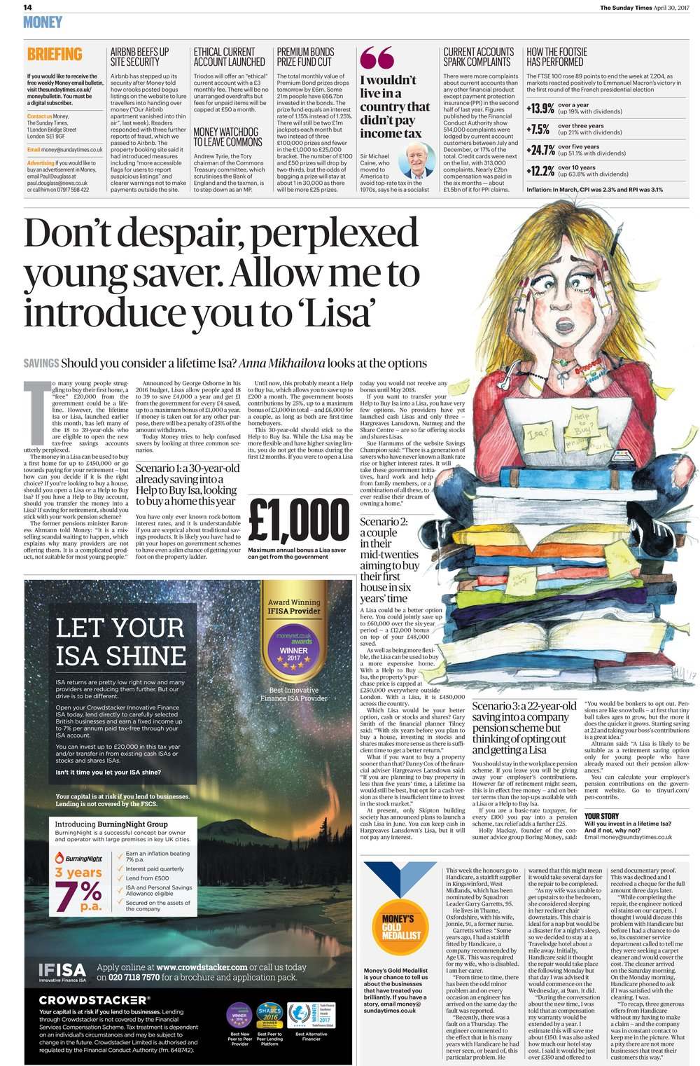 Which ISA should I choose? Sunday Times Money, April 2017