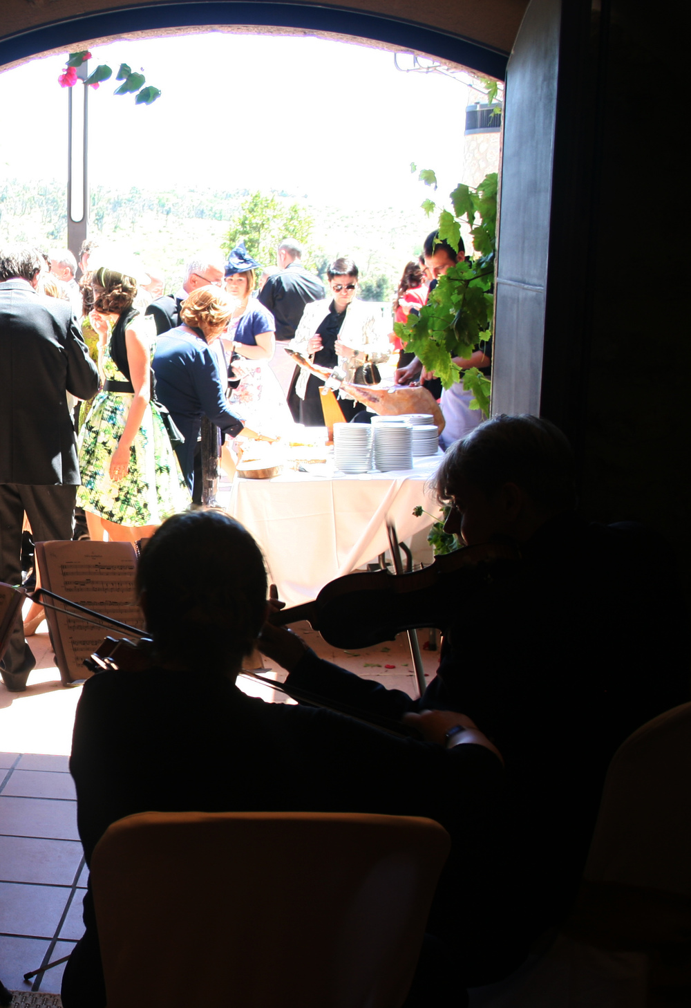 Classical music extraordinary paired with tasty food.  Música clássica mentres gaudim d'un bon tast.