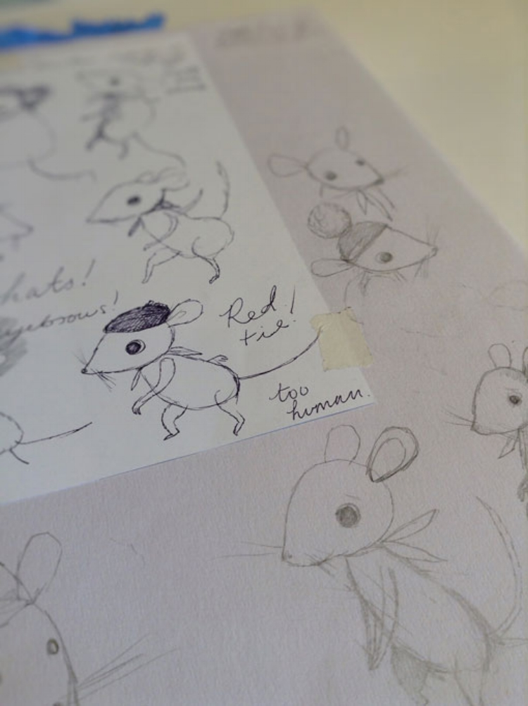 More mice..We knew from the beginning that the main protagonists would have to find the right balance between realism and comic characterisation.