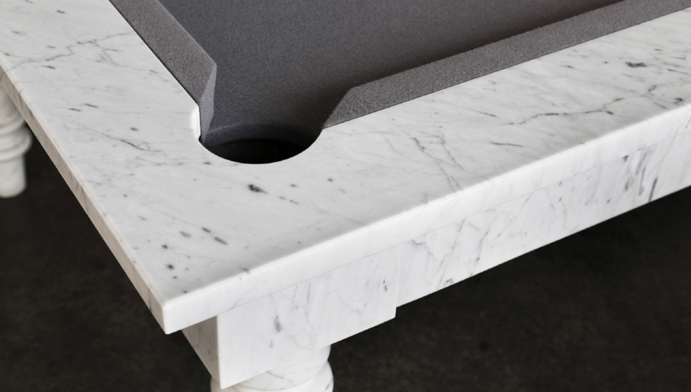 Dedalo Stone billiard table made in marble - detail - Masha Shapiro Agency.png