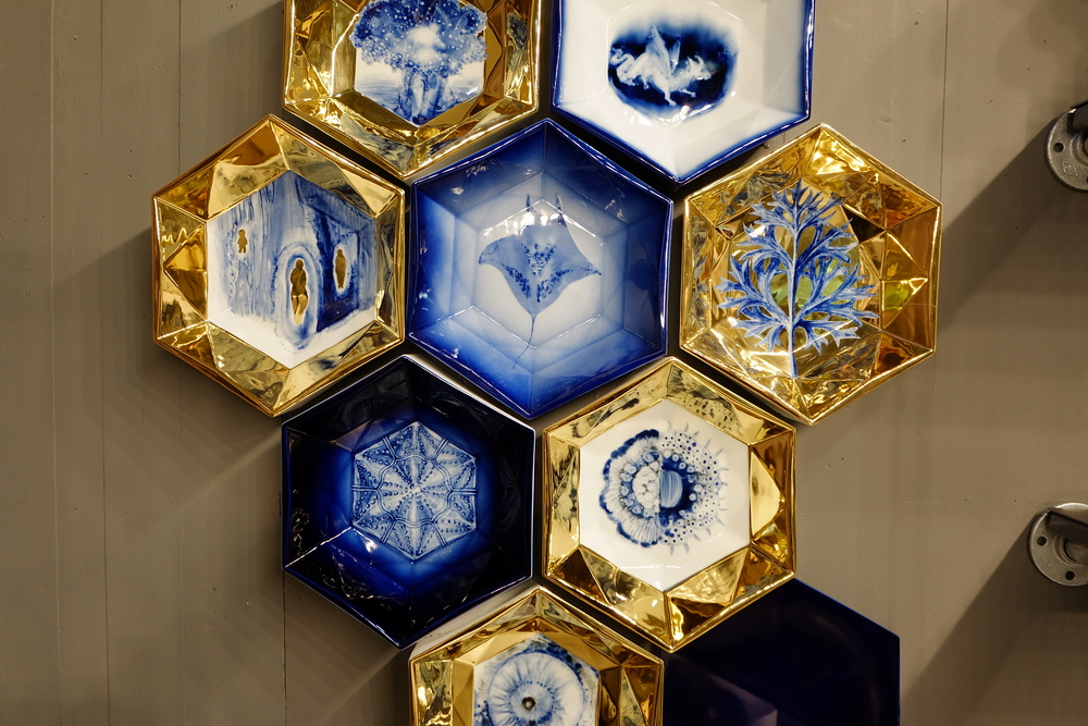 Maison & Objet 2016 Highlights - Honeycomb geometry in tableware with gold finish | MSH Agency
