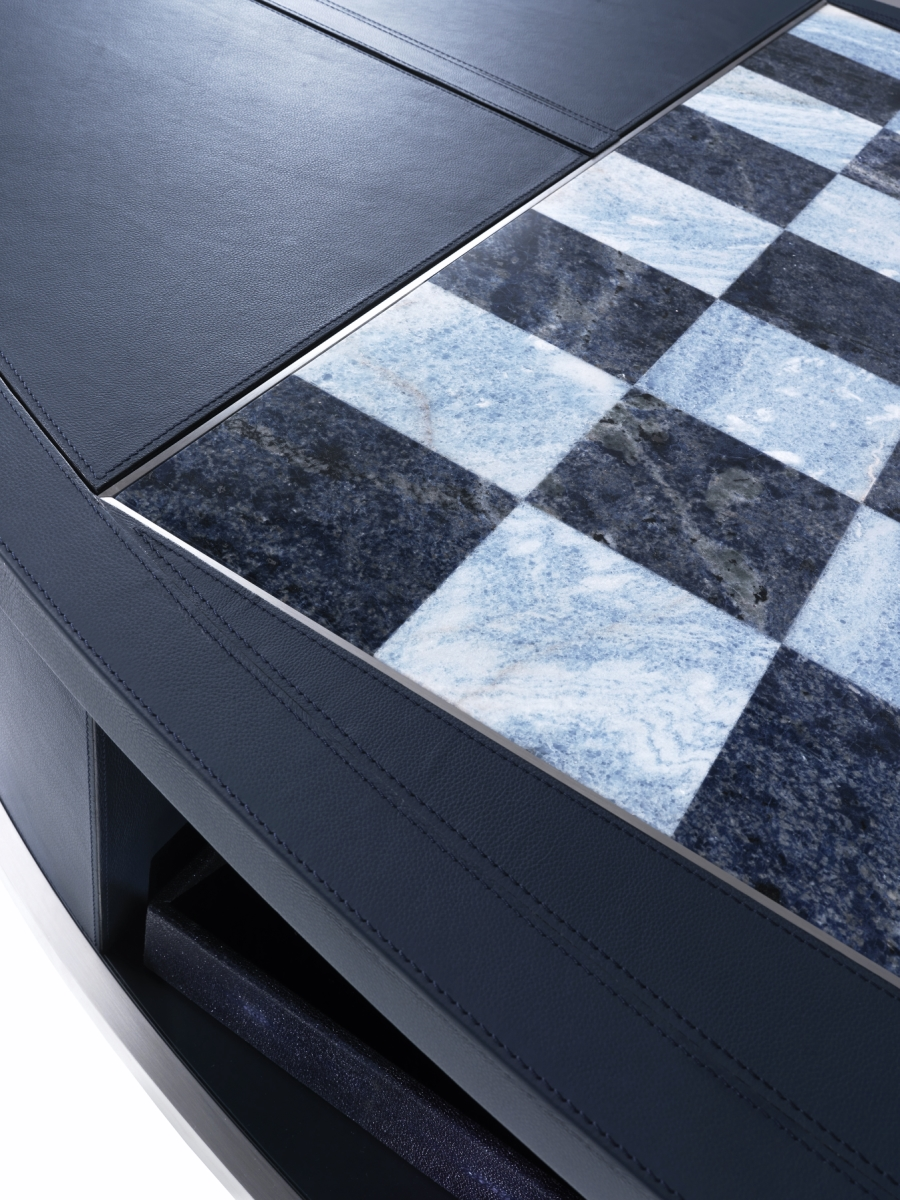 Annibale Colombo bespoke chess cabinet with solid marble chess board | Masha Shapiro Agency.jpg