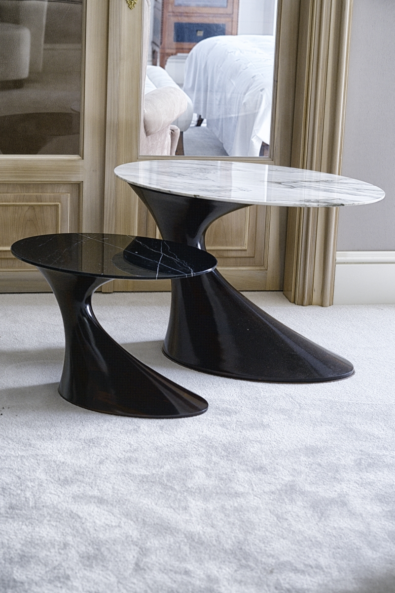 Interiors Advent Calendar - Annibale Colombo side table with solid wood base and marble top @ Masha Shapiro Agency.jpg
