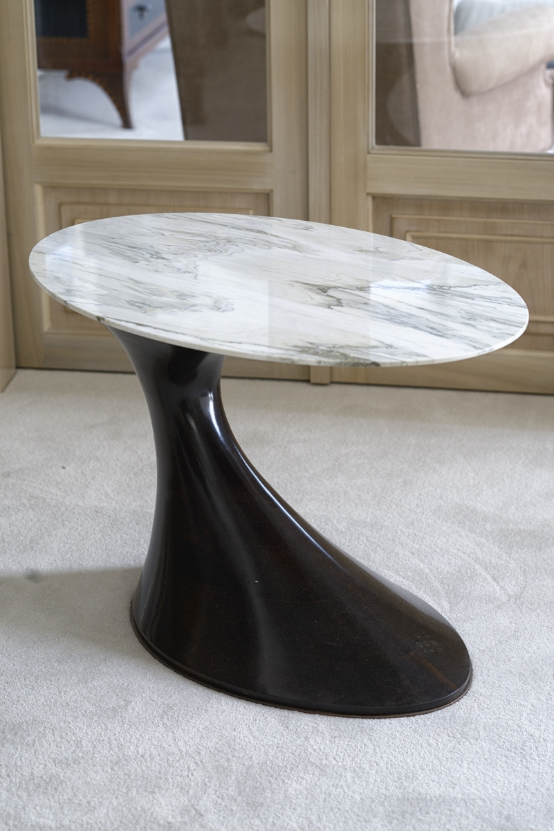 Interiors Advent Calendar - Annibale Colombo side table with Carrara marble top @ Masha Shapiro Agency.jpg