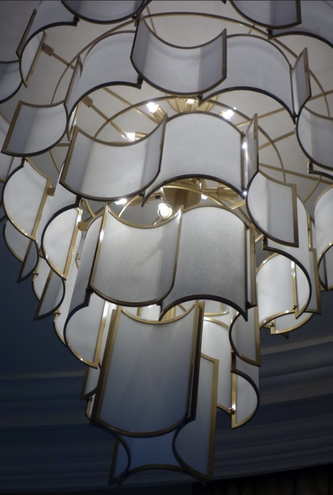 Shade chandelier detail by Officina Luce - Masha Shapiro Agency UK.JPG