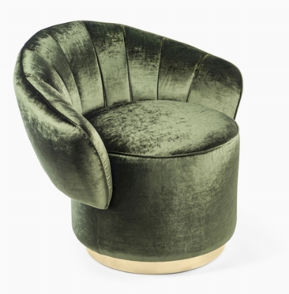VG New Trend in Milan - Kidman lounge chair in green velvet via Masha Shapiro Agency UK.jpeg
