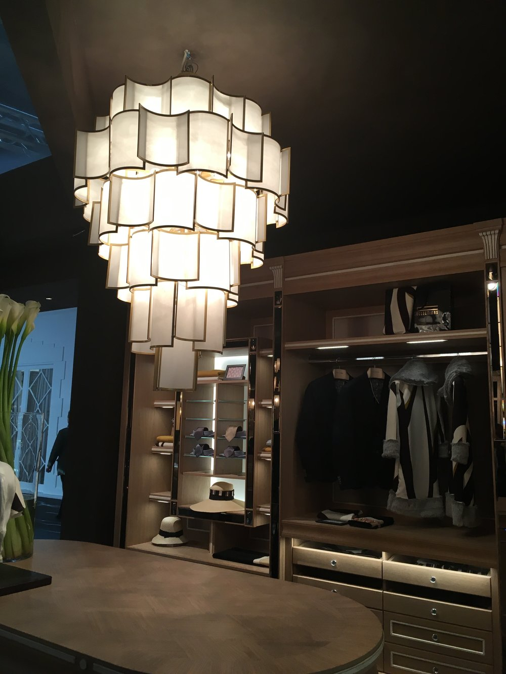 Officina Luce SHADE chandelier via Masha Shapiro Agency UK.JPG