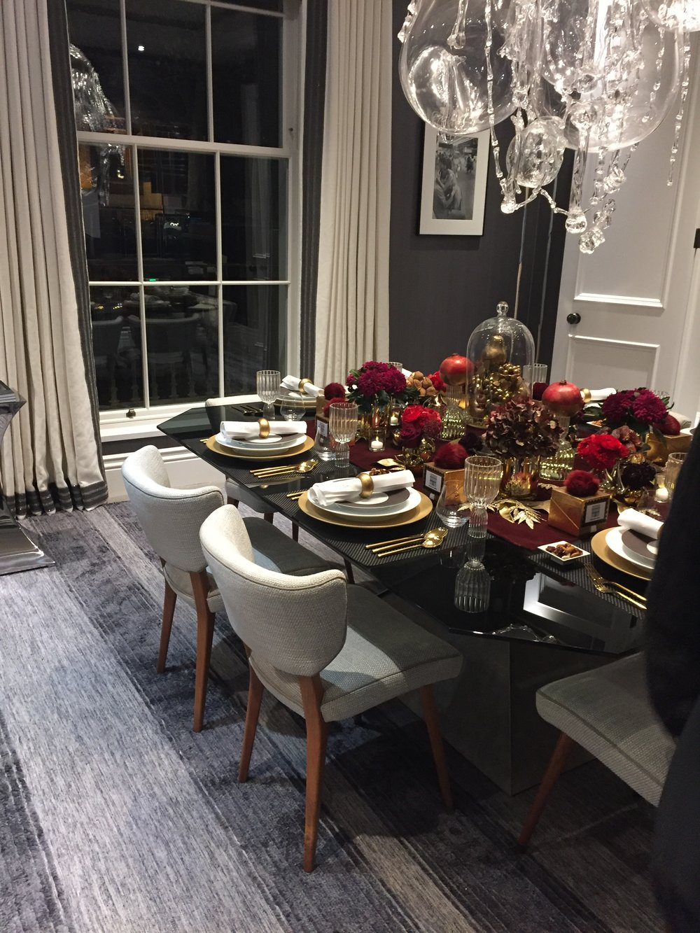 Holiday House London, An Interior Design Event With A Cause - Rachel Laxer Interiors dining room.JPG