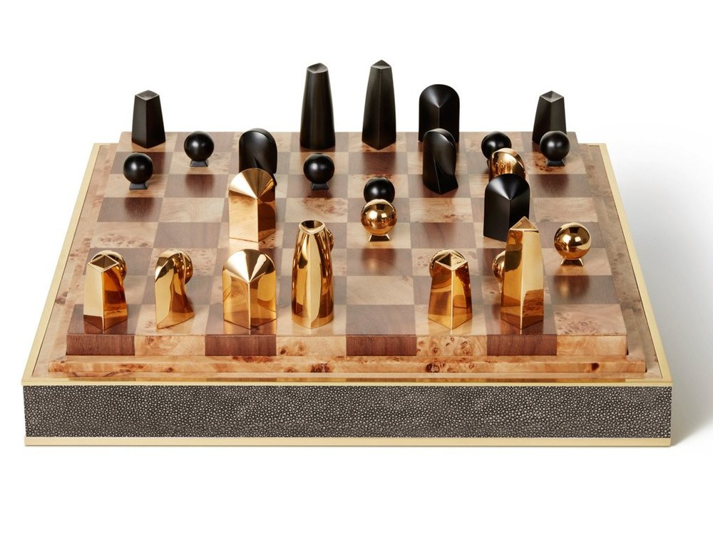 Interiors Advent Calendar - AERIN chess set with shagreen detail - Masha Shapiro Agency UK.jpg