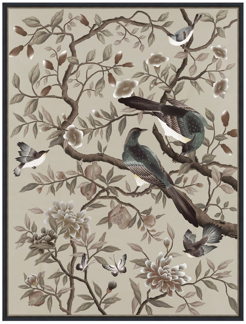 Interiors Advent Calendar - Diane Hill Design Felicity Print Neutral Chinoiserie Artwork - Masha Shapiro Agency UK.jpg