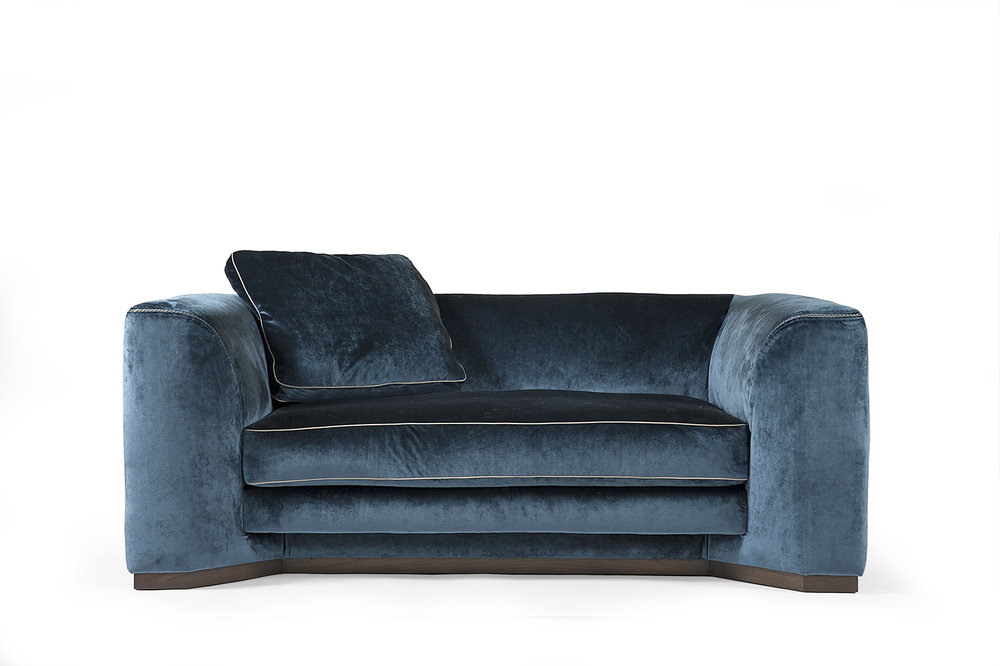 BORZALINO FRANKLIN 2 seater sofa in silk velvet upholstery -  Masha Shapiro Agency UK.jpg