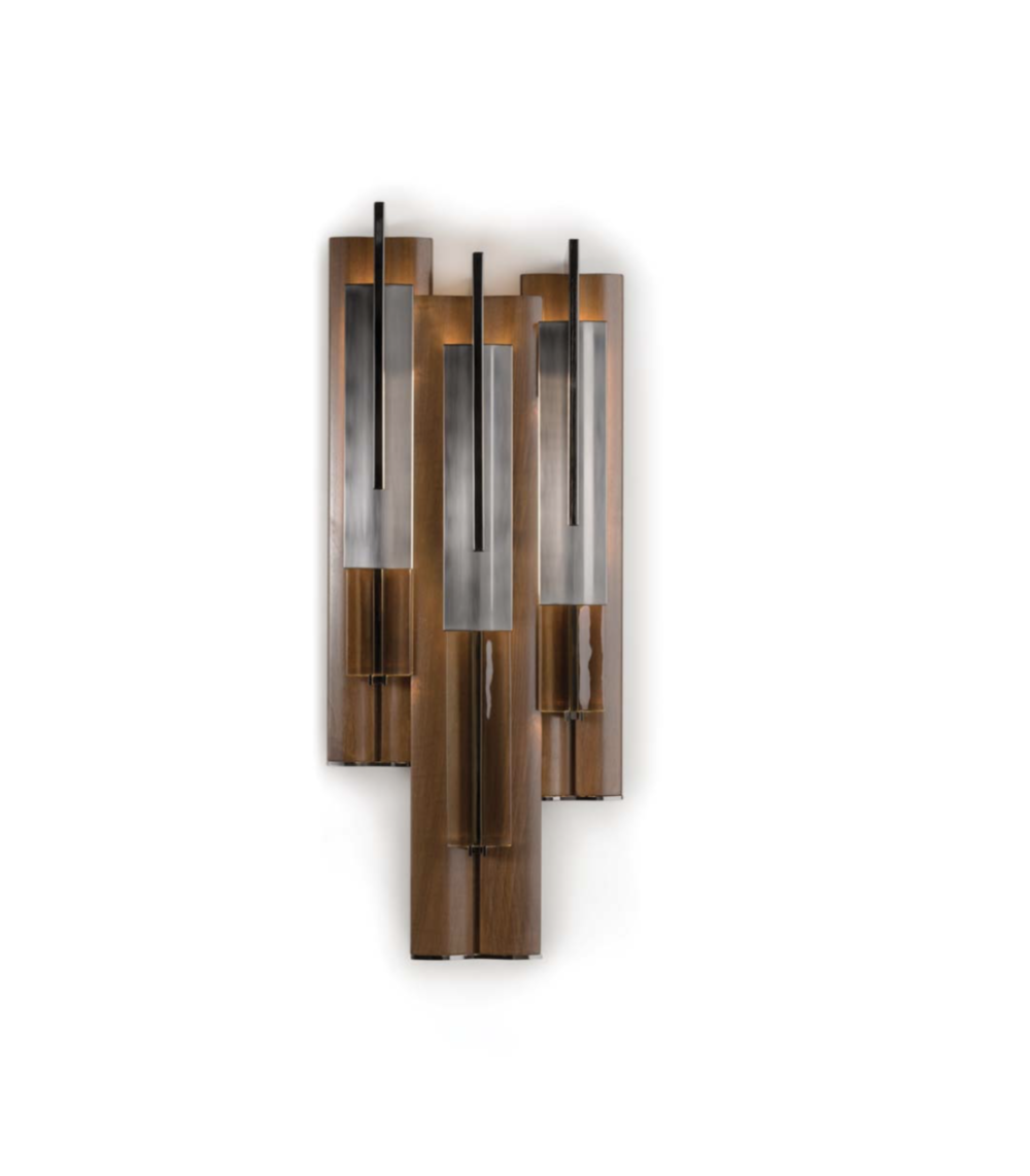 Officina Luce Anima wall light in dark nickel finish via Masha Shapiro Agency UK.jpg