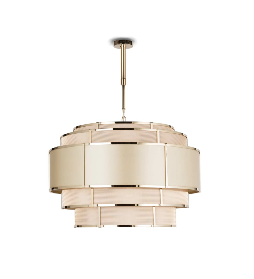 Officina Luce Nest pendant in polished light gold via Masha Shapiro Agency UK.jpg