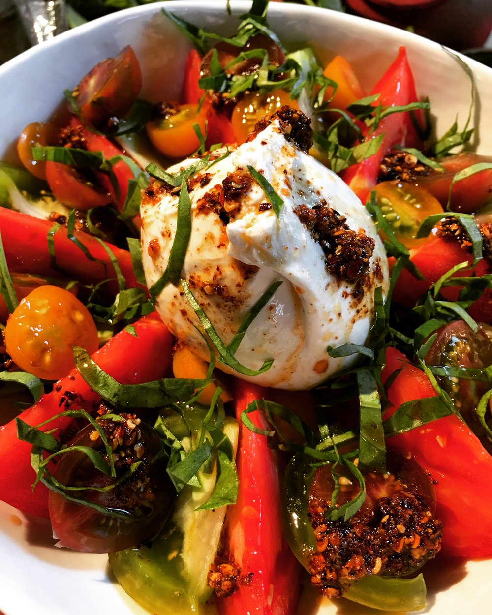Szechuan Tomato and Burrata Salad
