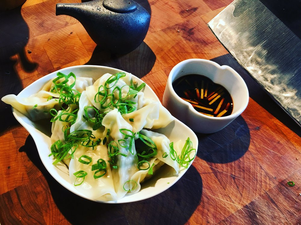 Boiled Dumplings with Soy