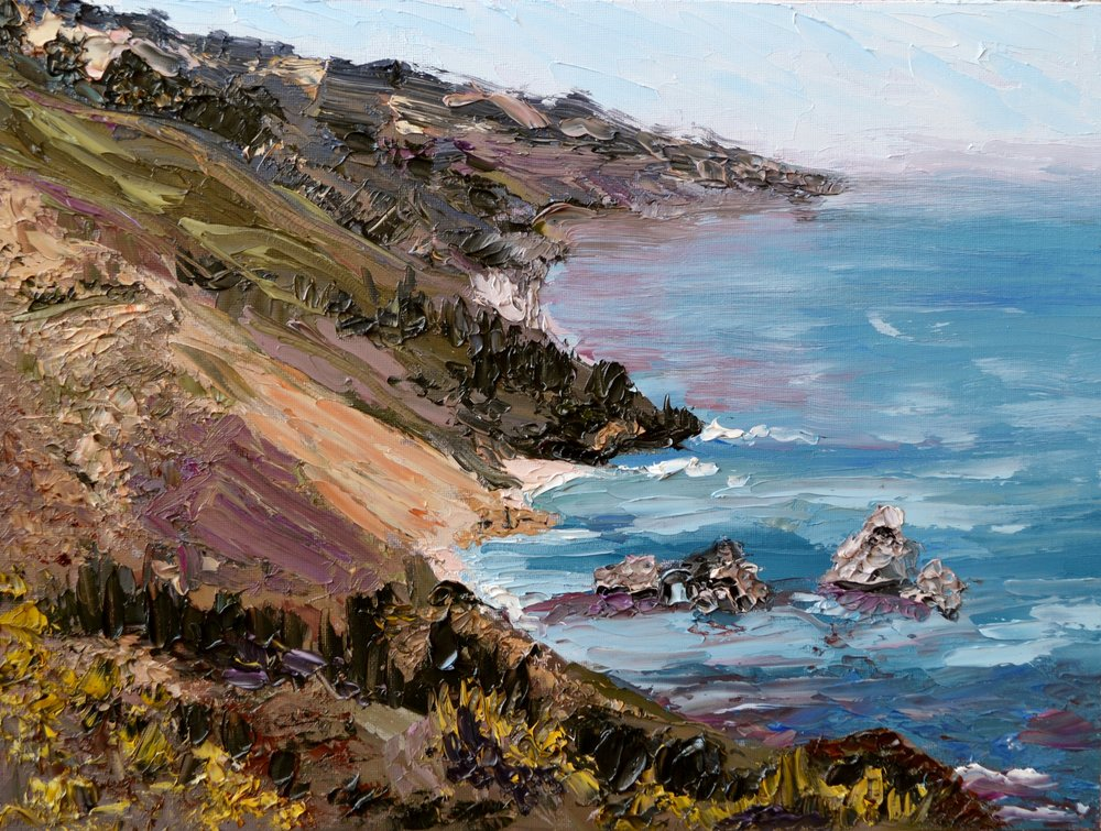Somewhere on the West Coast, Oil on Canvas,