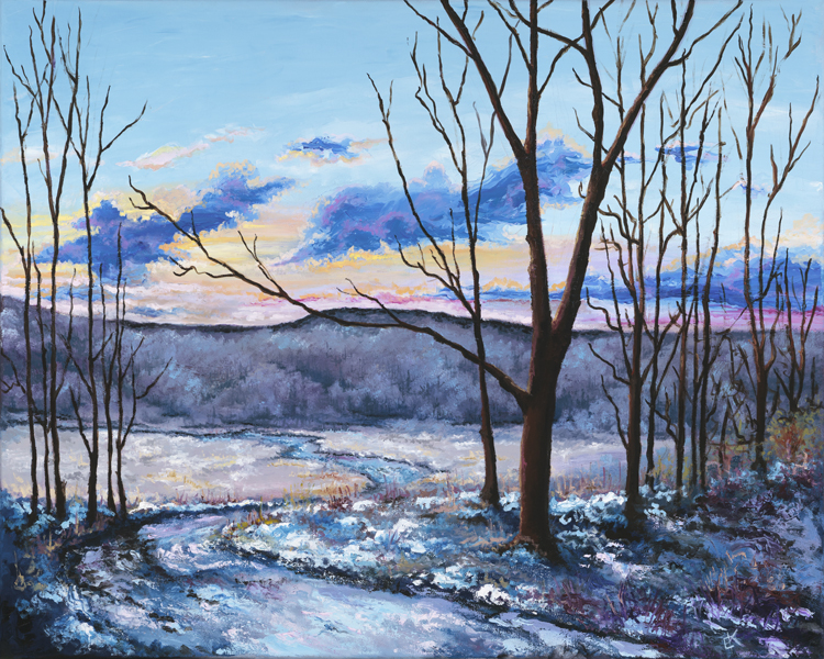 """Winter""  24 x 30 inch, oil on canvas."