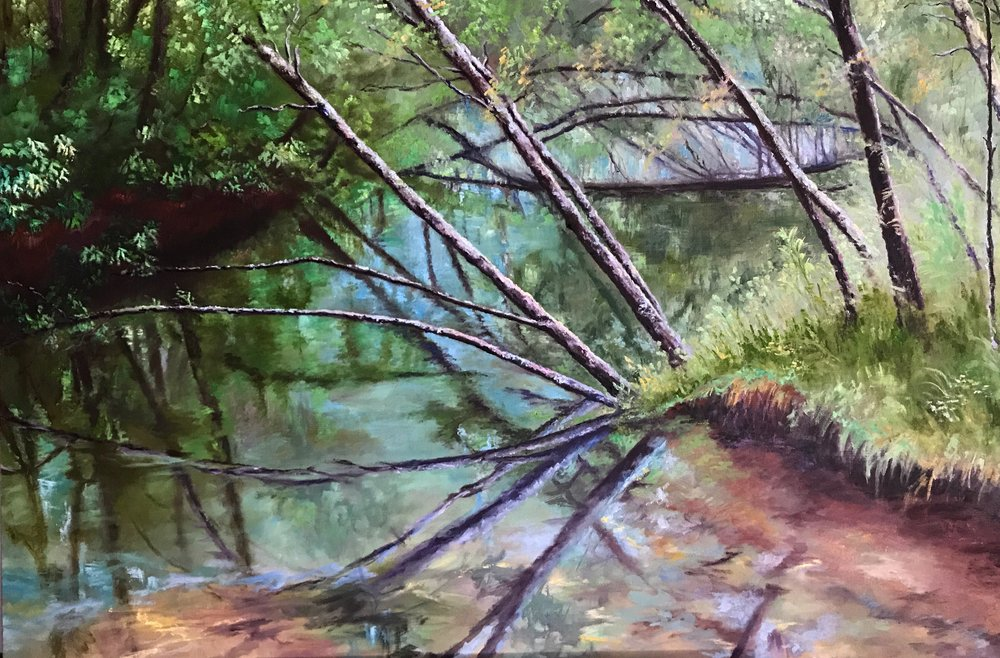"""Cherry Burch River""  36 x 24 inch, oil on canvas."