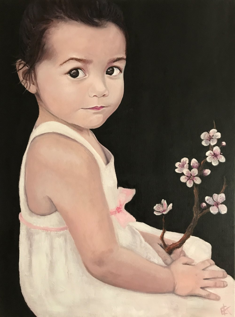 """Cherry Blossom""  24 x 18 inch, oil on canvas"