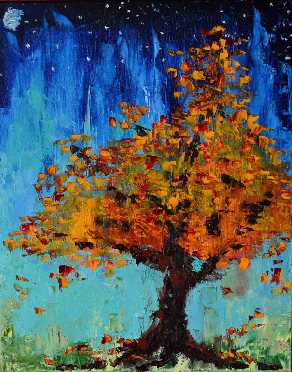 """Fire Fall""  20 x 16 inch, oil on canvas   SOLD"