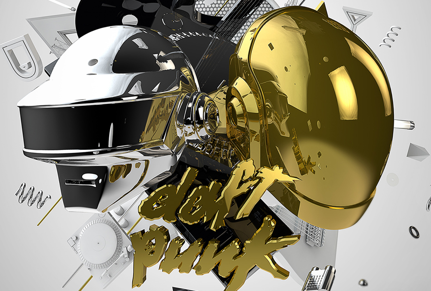 DAFT PUNK  –  3D ARTWORK