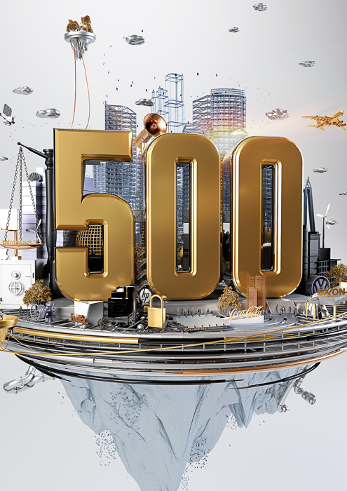 FORTUNE MAGAZINE - GLOBAL 500 COVER ILLUSTRATION