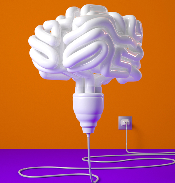 FORTUNE MAGAZINE - ELECTRIFY YOUR MIND ILLUSTRATION