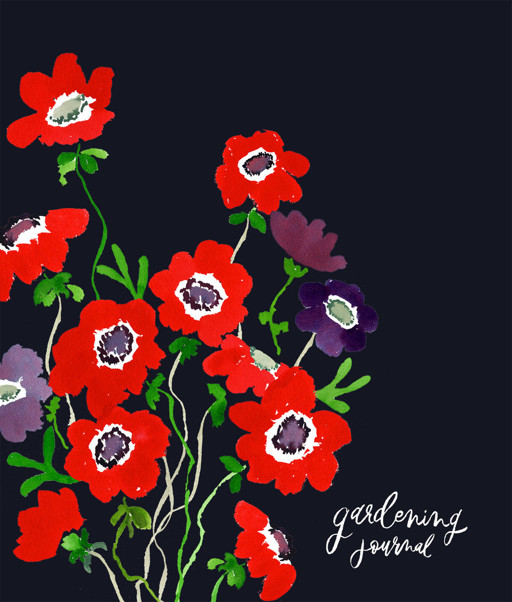 Global Talent Search 2018 Project | Gardening Journal Cover | Including Japanese Anemones and Staghorn Ferns