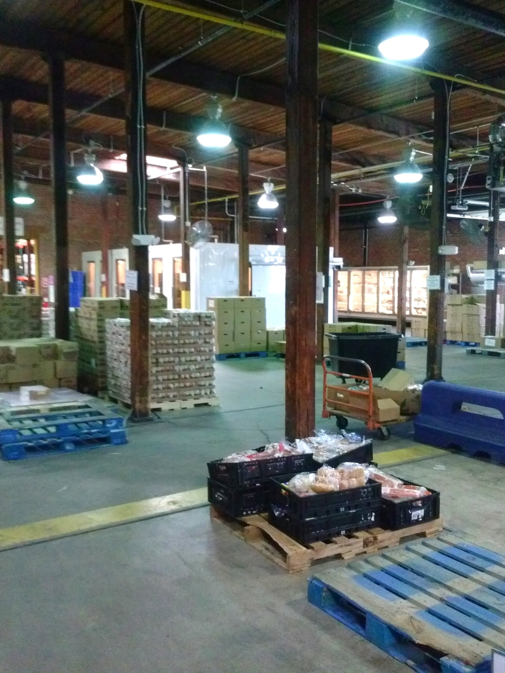 The FeedMore food bank that we toured.
