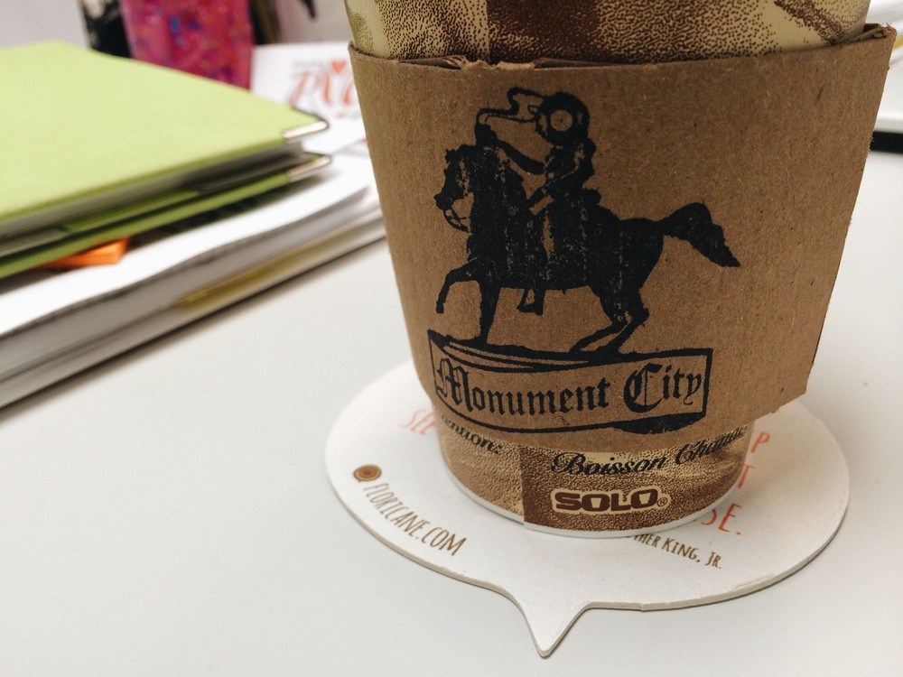 Lucky for us, we have Monument City Coffee & Records super close to our office,  just across Grace Street.