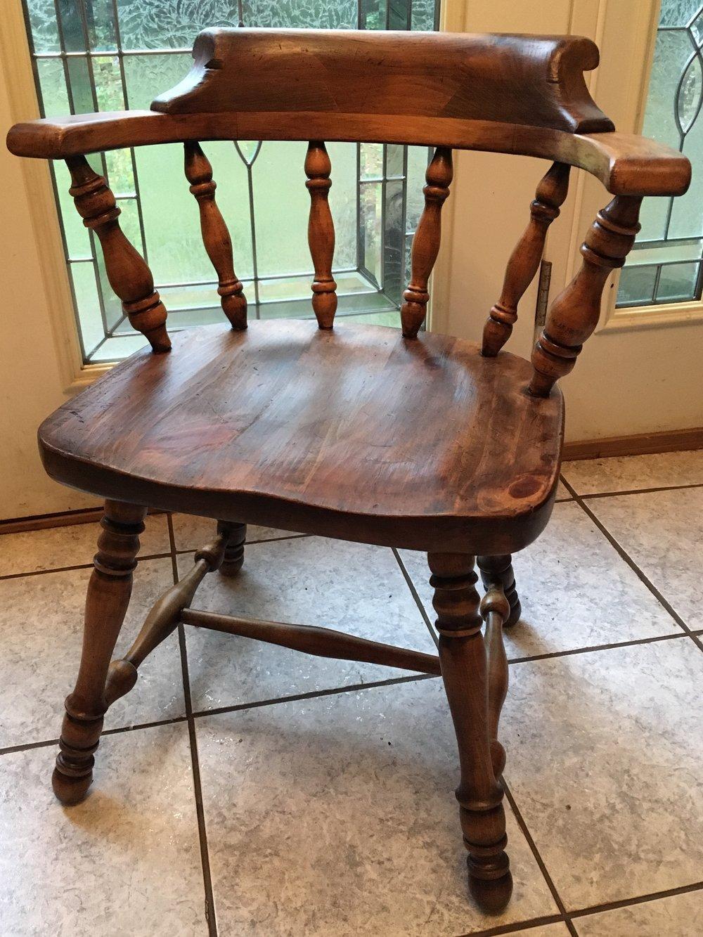 Hand-Restored Children's Antique Captain's Chair