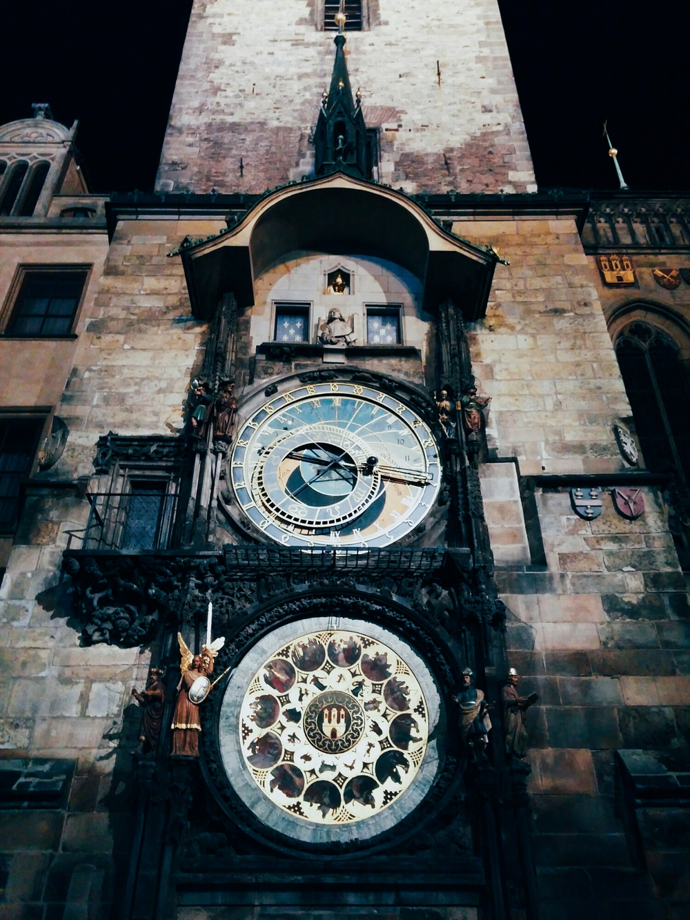 {Prague Astronomical Clock in Old Town Square.}