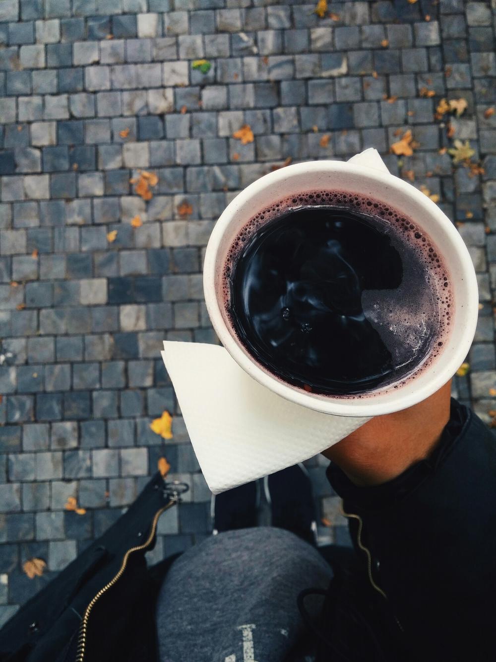 {Hot wine. Definitely not my thing.}
