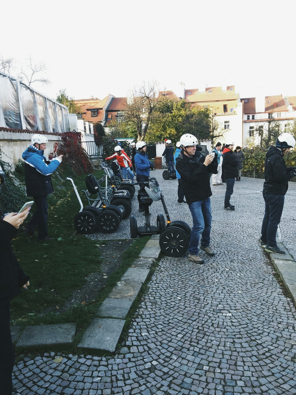 {Just one of the many   segway tours we saw throughout our stay.}