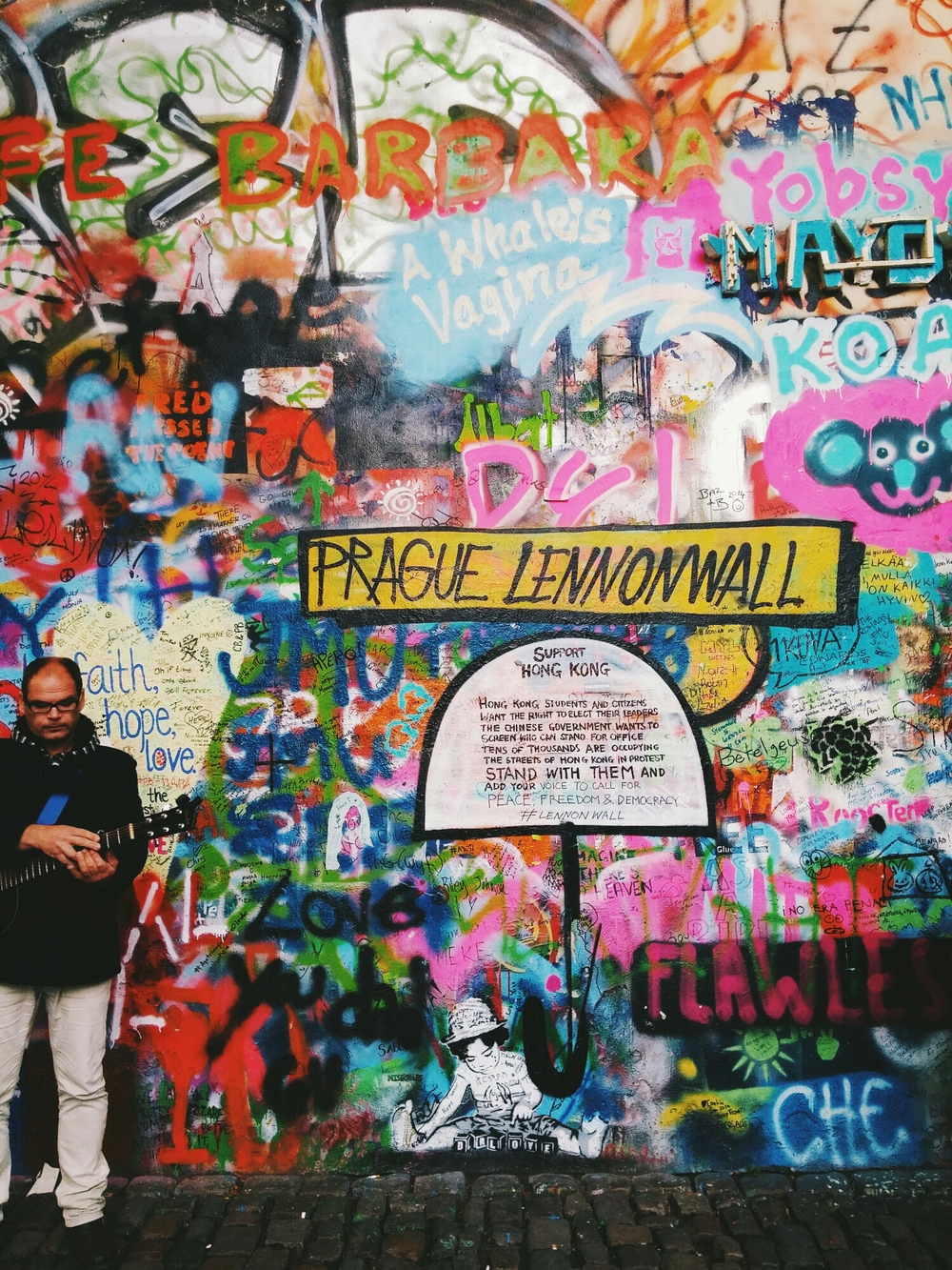 {Prague Lennon Wall.}