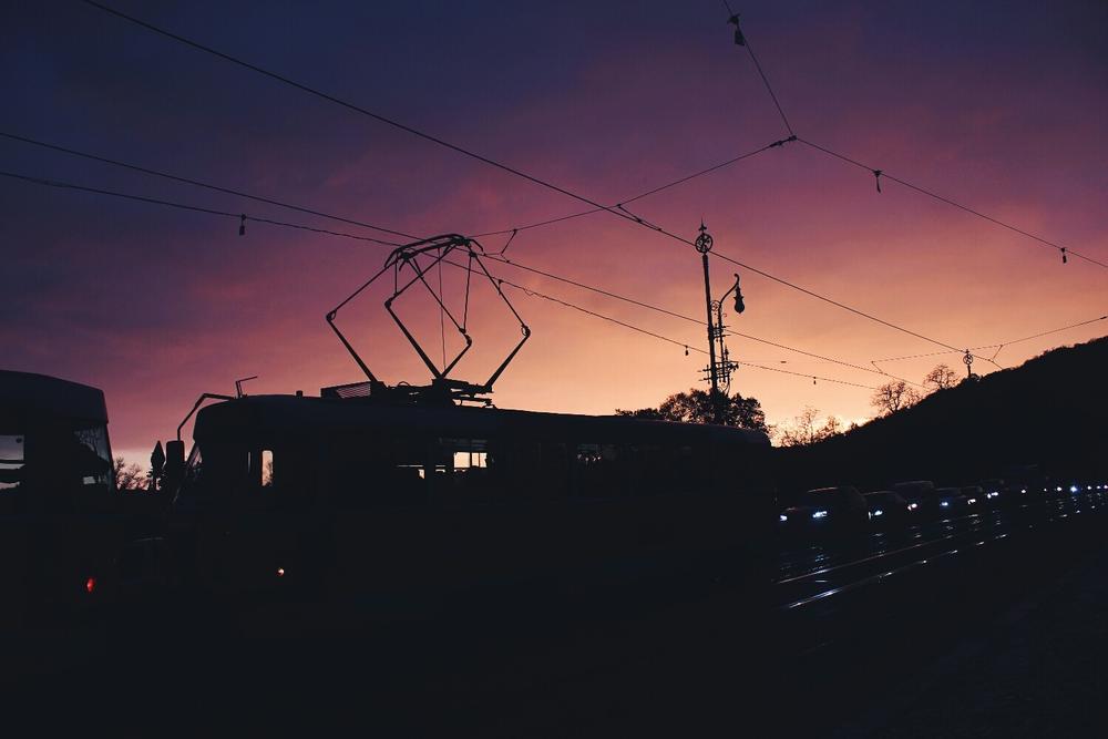 {Beautiful sunset.}