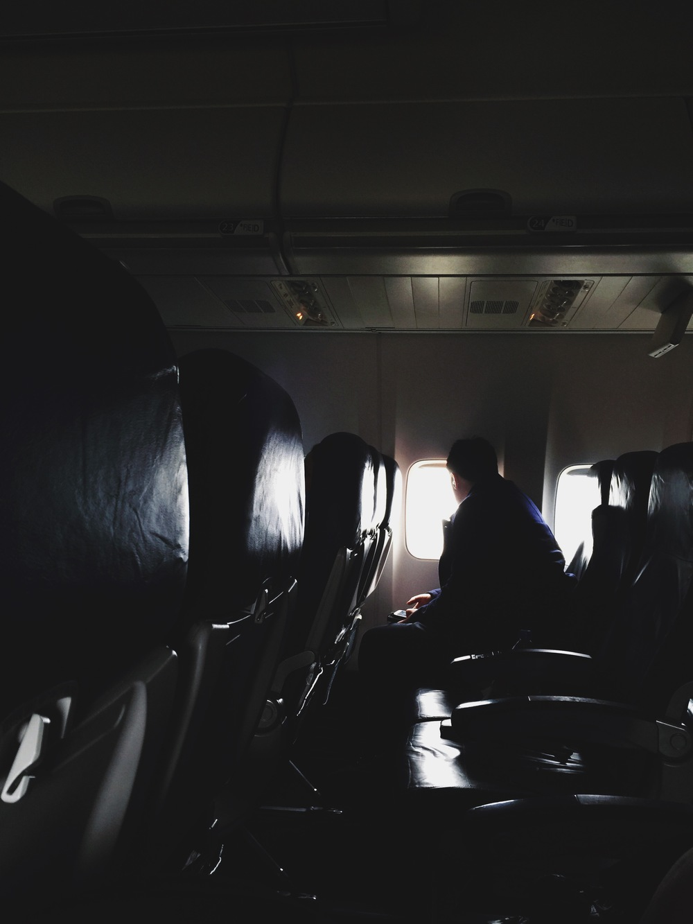 {people in airplanes.}