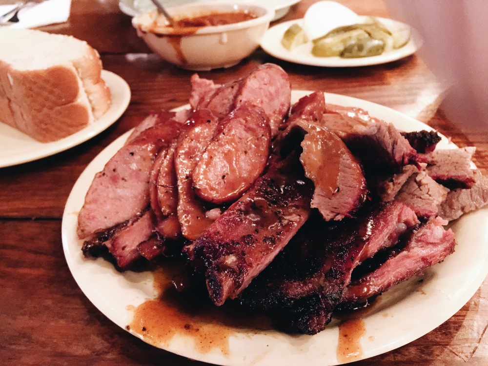{a close up of the meat.}