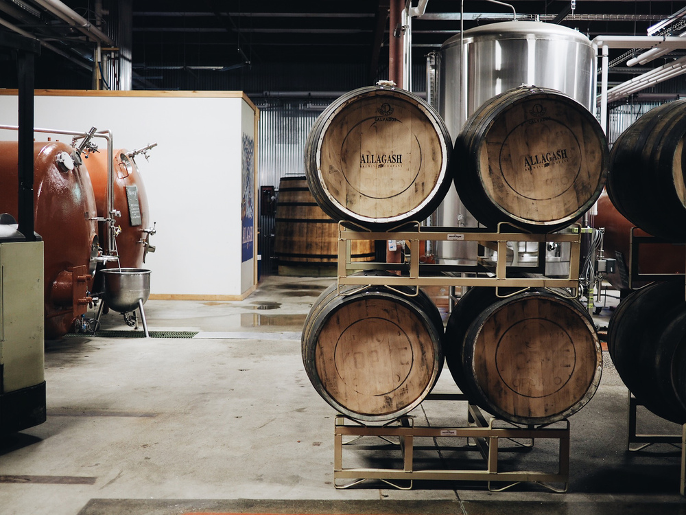 {Barrels for beer.}