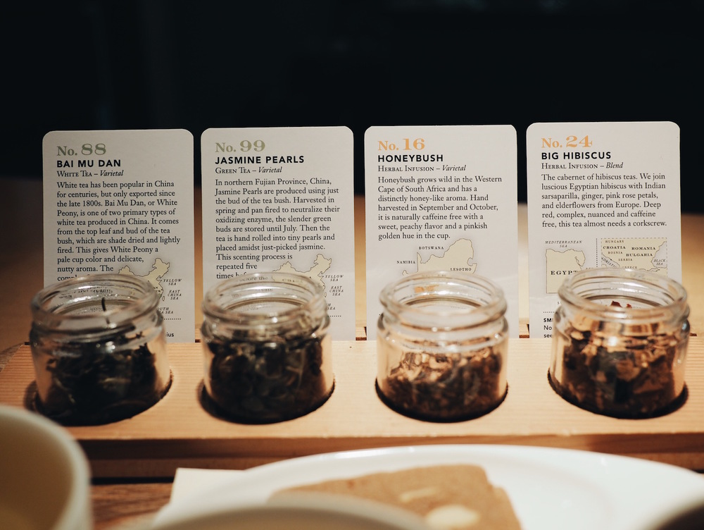 {Full descriptions of the teas we tasted.}
