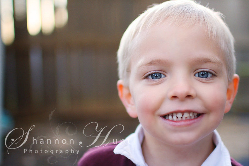 5 year old boy smiling by Temple TX photographer