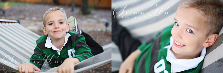boy on hammock by Temple TX photographer