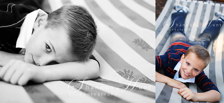 boy in hammock by Temple TX photographer