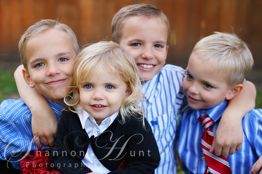 4 kids by Temple TX photographer