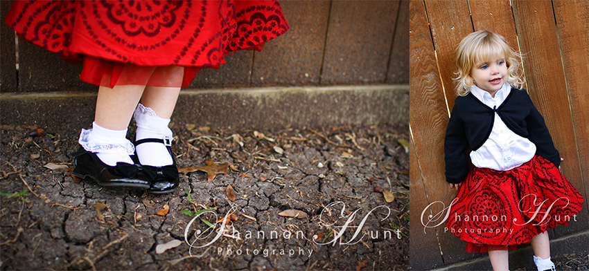girl in red dress by Temple TX photographer