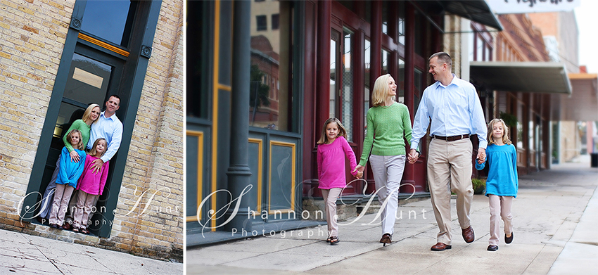 family downtown by Central, TX photographer