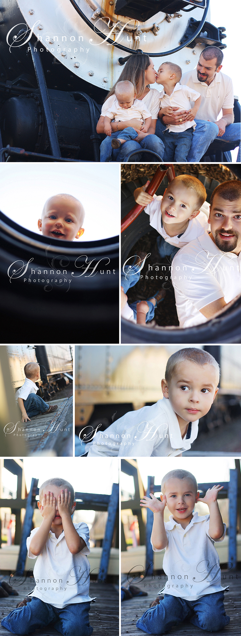 family with trains by Shannon Hunt Temple TX family photographer